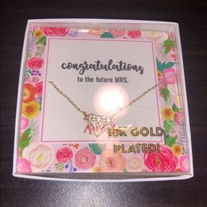Miss To Mrs. Gold Plated Necklace